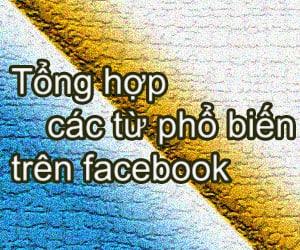 Tổng hợp các từ phổ biến trên facebook