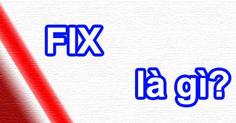 Fix có nghĩa là gì?