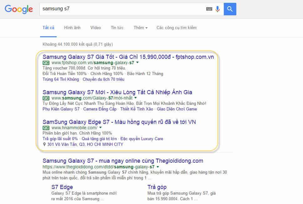 SEM trên Google