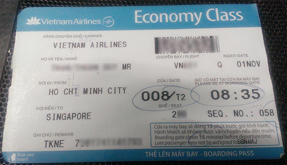 Boarding Pass - Thẻ lên máy bay