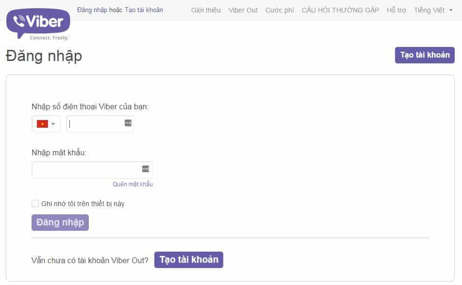 9 - Hướng dẫn cách nạp tiền - mua tín dụng cho Viber Out
