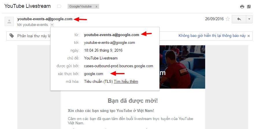 Email từ google