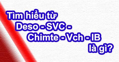 Tìm hiểu từ Deso - SVC - Chimte - Vch - IB là gì?