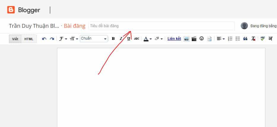 Tiêu đề bài viết Blogspot