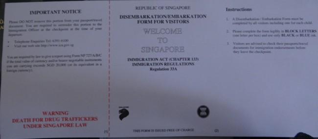 11 - Hướng dẫn điền tờ khai nhập cảnh Singapore cho người Việt Nam
