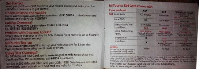 6 - Hướng dẫn mua sim di động tại Singapore cho du khách Việt