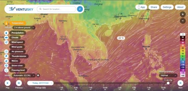 9 - Dự báo thời tiết nhờ những web thời tiết miễn phí cực hay