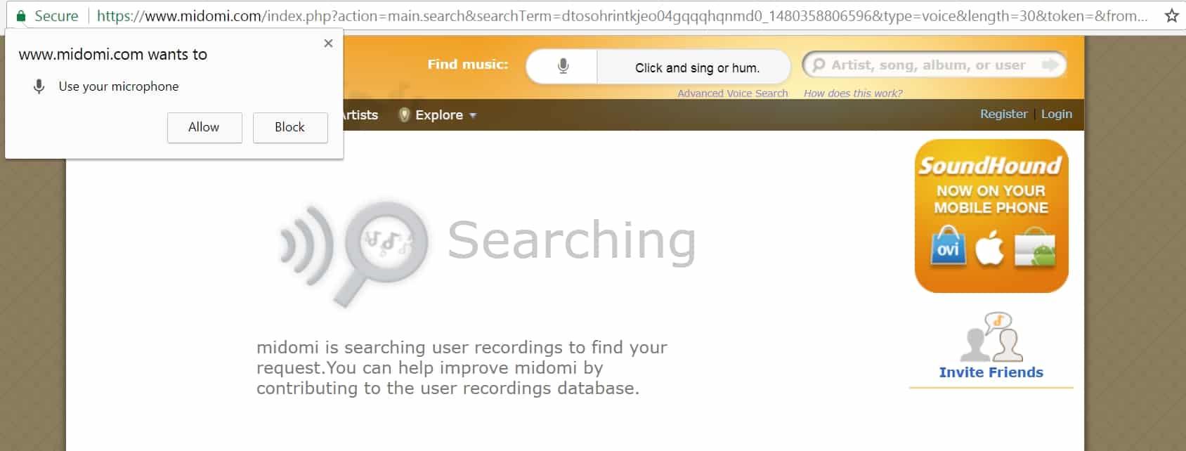 6 - Tìm bài nhạc gốc qua giai điệu hoặc hòa âm bằng web midomi