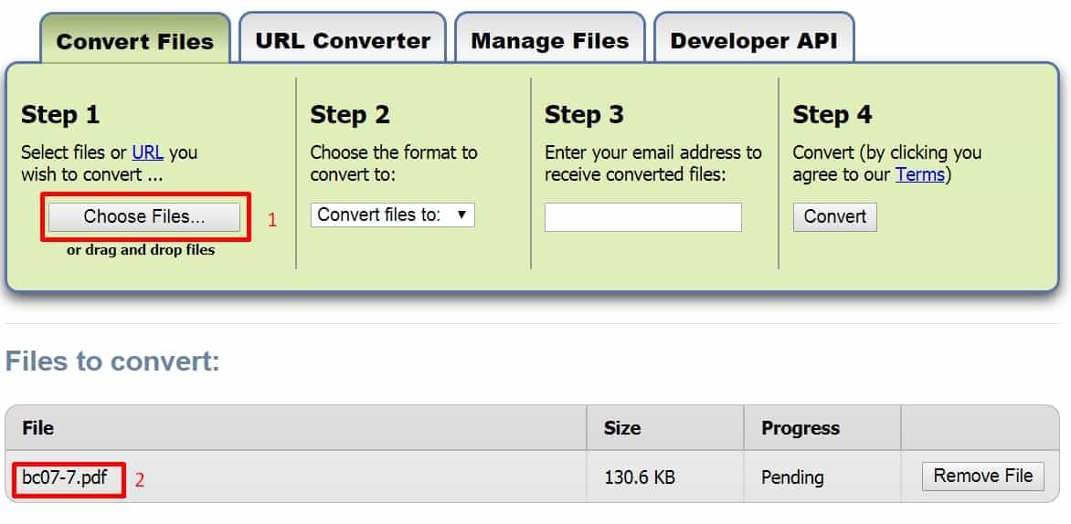 9 - Chuyển đổi file bất kỳ với trang web zamzar mà không cài phần mềm khác