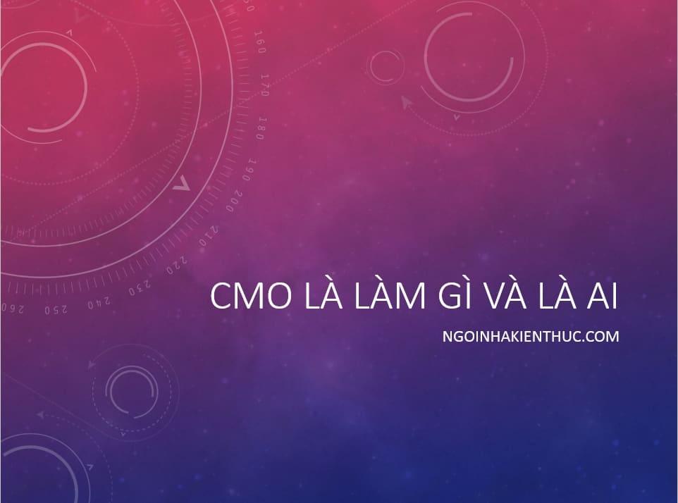 2 - CMO là gì, là ai và làm gì trong doanh nghiệp?