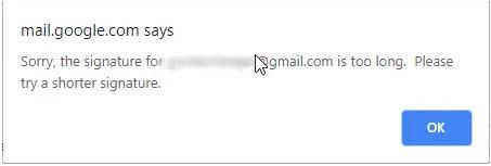 7 - Hướng dẫn cách khắc phục lỗi chữ ký quá dài trong Gmail