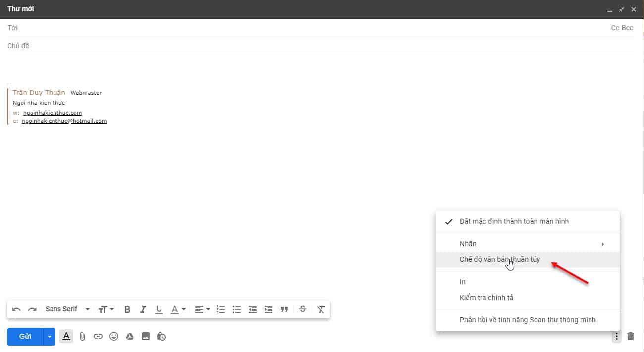 8 - Hướng dẫn cách khắc phục lỗi chữ ký quá dài trong Gmail