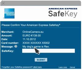 4 - Tìm hiểu dịch vụ American Express SafeKey của thẻ Amex
