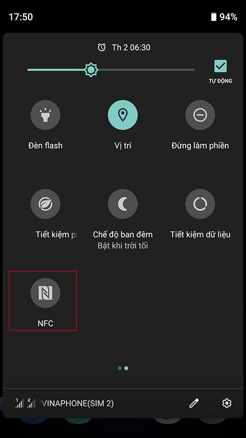 Bật NFC trên điện thoại