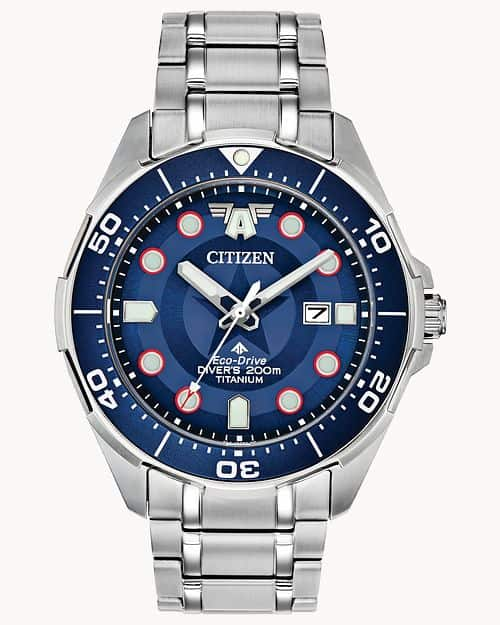 Đồng hồ Citizen Super Titanium Captain America
